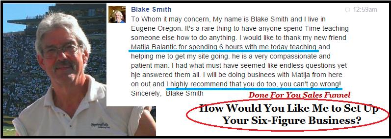 blake testimonial